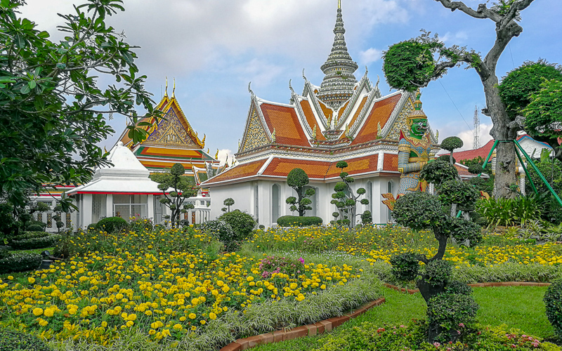 The Garden at Wat Arun, in Bangkok