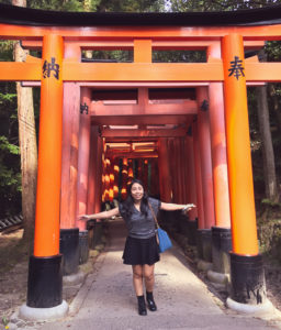 At Fushimi Inari Taisha in Kyoto, Japan