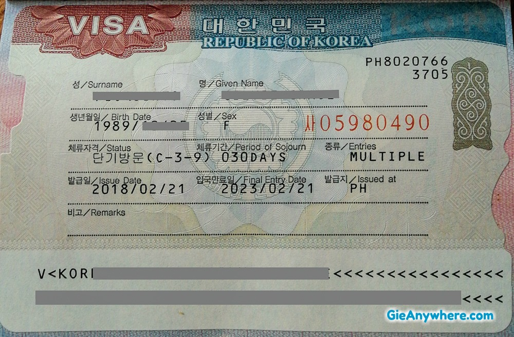 How I Got A Multiple Entry South Korea Visa In My First Application Gie Anywhere