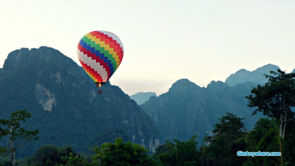 Ride a Hot Air Balloon in Vang Vieng