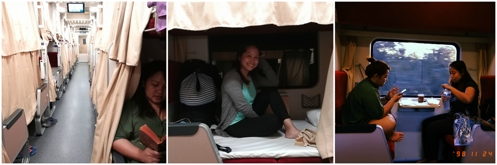 Overnight sleeper train in Thailand